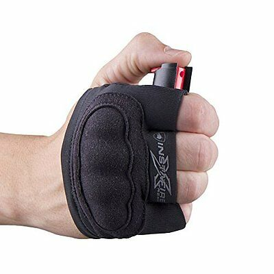 InstaFire Xtreme Pepper Spray with Knuckle Defense for Runners & Joggers Black