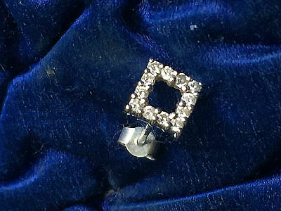9ct White Gold and Diamond Earrings