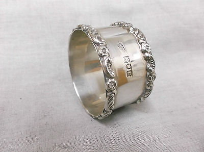 A Heavy   Vintage   Sterling  Silver   Napkin Ring   London 1912