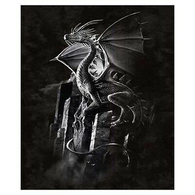 Signature Collection Silver Dragon Plush Raschel Mink Style Blanket, Queen Size