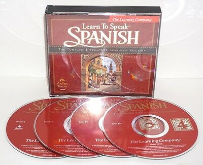 The Learning Company Learn To Speak Spanish Version 8.0 of 4CD's