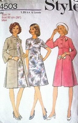 **Vintage Sewing Pattern**Ladies Lined Coat & Dress**Mother of the Bride**