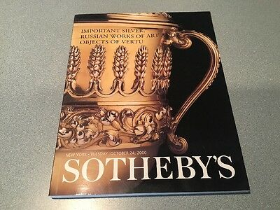 Sotheby'S  Ny  Important Silver Russian Works Art Objets Of Vertu Catalog 2000
