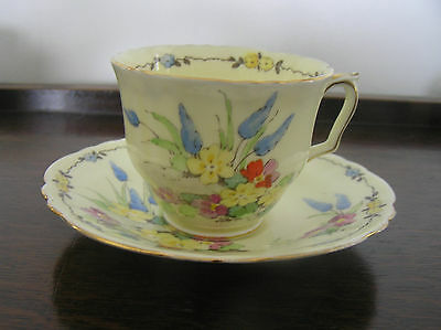 Very Pretty Vintage Bone China Cup and Saucer by Crown Staffordshire