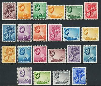 SEYCHELLES 1938 CHALK PAPER VALUES TO 1Rs50c VF LH SG#135-144/145-7