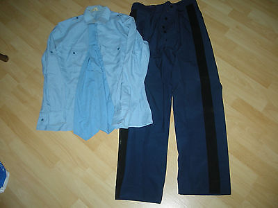 Militaria Lot  Pantalon   +  Chemise + Cravate   Gendarmerie
