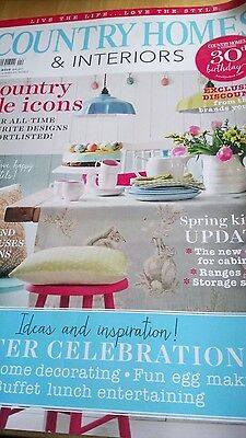 Country Homes and Interiors magazine April 2016 used. Easter Spring