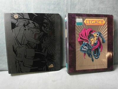 Tribe and Majectic Trading Comic Card Sets in Albums with Chase Cards