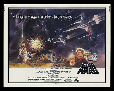 ORIGINAL 1977 STAR WARS NSS ROLLED HALF-SHEET MOVIE THEATER POSTER! 22X28 Inches