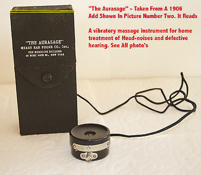 Antique Hearing  Aid Massage Home treatment hearing instrument  device