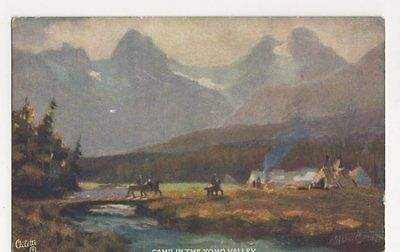 Canadian Pacific Railway, Camp in Yoho Valley, Tuck Postcard, B104