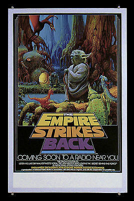 REAL! STAR WARS 1982 THE EMPIRE STRIKES BACK NPR Radio Poster   BEWARE OF FAKES!