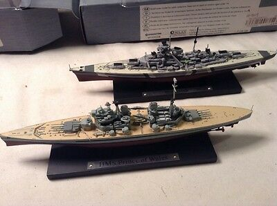 Atlas Editions Battleships, HMS Prince Of Wales & Bismark, Excellent, Boxed.