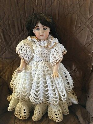 Pretty Antique  French Reproduction Doll By Tina Marie- Jointed Composition Body
