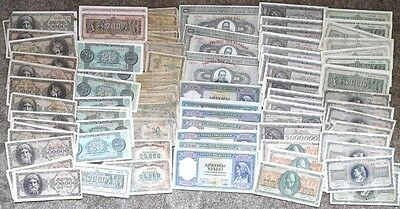 GREECE LOT BUNDLE 100 PCS WWII 1930-1940's MANY DIFFERENT NOTES