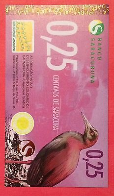 Brazil**BANKNOTE LOCAL COMMUNITY CURRENCY** 25 CENTAVOS** 2010** UNC