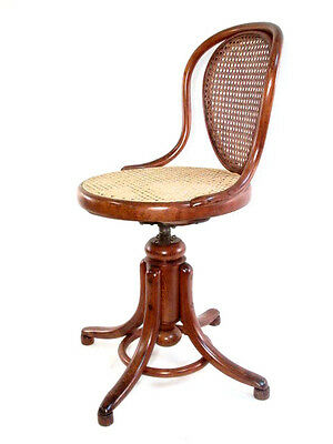 Vintage Thonet Style Bentwood Swivel Office Chair