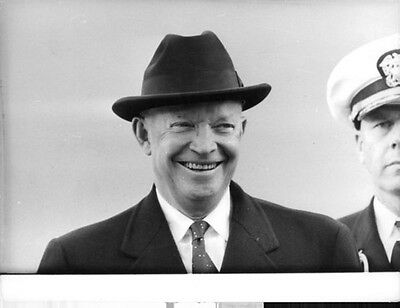 Vintage photo of Dwight D. Eisenhower while smiling.