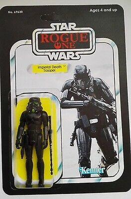 Vintage Style Rogue One Custom Card Death Trooper With Action Figure Included