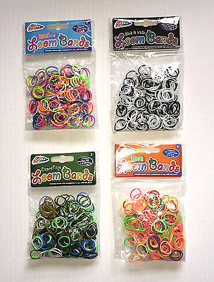100 packs of 300 loom bands christmas stocking fillers wholesale party bag b new