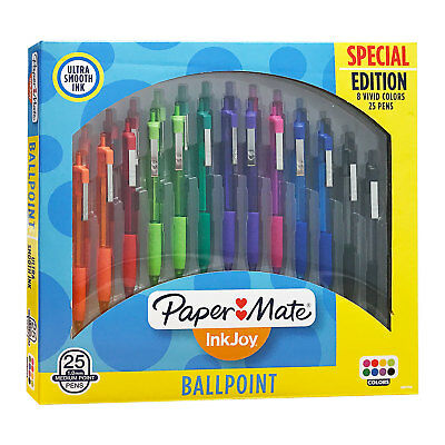 Paper Mate InkJoy 300RT Retractable Ball Point Pen, Medium, Assorted, 25 Count