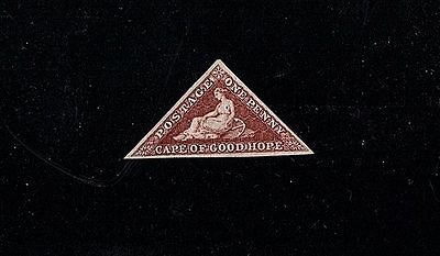 Cape Good Hope 1864 One Penny Stamp Unused Brick Red With Certificate