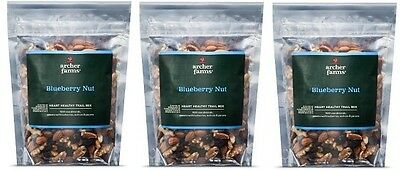 3 pk Archer Farms Blueberry Nut Heart Healthy Trail Mix 12 oz