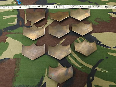 Lot of 10, Vintage, Brass, British Military, Crossbelt End Pieces