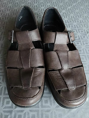 Mens HOTTER  'Sand'  Leather Brown Sandals /Shoes   SIZE 8.5  Excellent