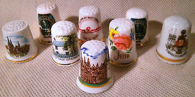 Collection of Eight Mixed Thimbles