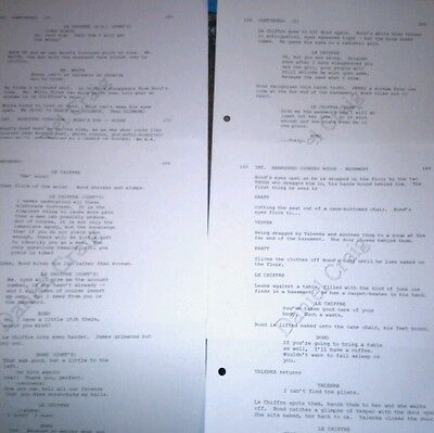 James Bond 007 genuine DANIEL CRAIG used film prop CASINO ROYALE SCRIPT PAGES