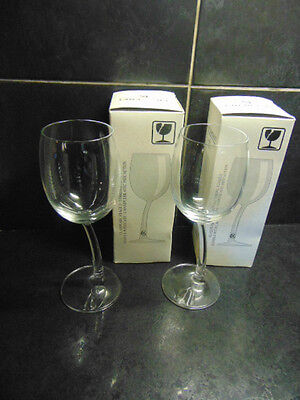 Pair JP Chenet Wonky Wine Glasses in boxes