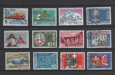 Switzerland 1962 - 1964 Publicity Issues Used - 2 Sets + Part Set