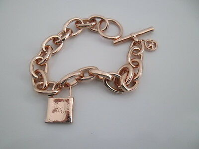 Rose Gold Alloy Chunky  Bracelet  With T Bar ......brand New
