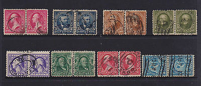 US  USA very old JOINED PAIRS STAMPS