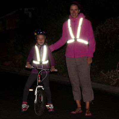 High Visibility Safety Adjustable Reflective Vest for Night Running Cycling Moto