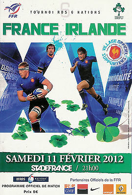 France v Ireland RUGBY PROGRAMME 11 Feb 2012 RBS Six Nations Championship