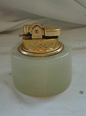 Rare VINTAGE Traditional SOLID ONYX SIWO JAPAN TABLE LIGHTER 6cm x 7cm