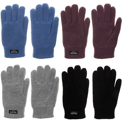 Women's 3M Thinsulate Thermal Fleece Lined Thick Knit Warm Winter Snow Gloves