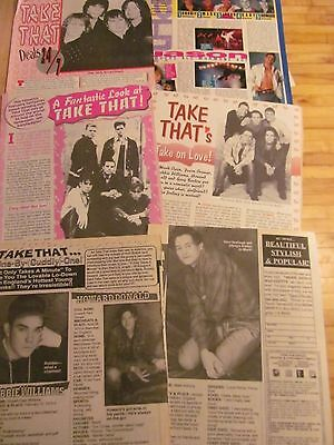 Take That, Lot of FIVE Full and Two Page Vintage Clippings