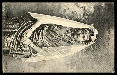 Ceylon Tamil Bride Skeen 1900s used Picture Postcard to United States