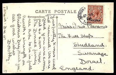 Tangier British Post Office 1921 real Photo Postcard to England