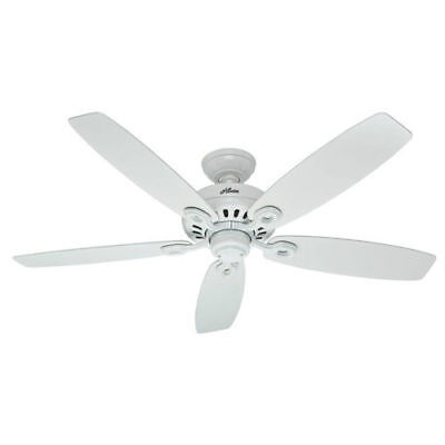"Hunter Markham 52"" Snow White Ceiling Fan 54108 New"