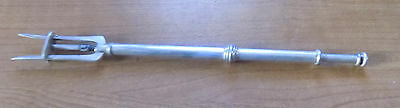 Unusual Silver Plate Olive  Or Butter Pusher, Spring Loaded