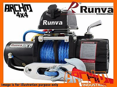 Runva 8.0XS 12V 8000LB with DYNEEMA ROPE ELECTRIC COMPACT RECOVERY WINCH