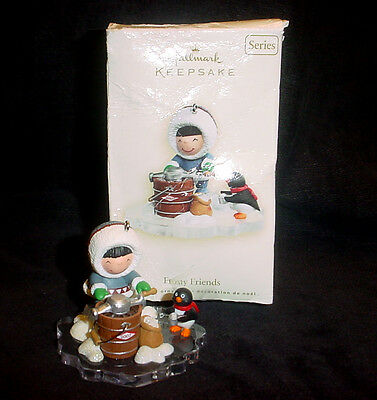 2007 Hallmark FROSTY FRIENDS Keepsake Christmas Ornament ICE CREAM XLNT!!
