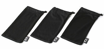 Oakley Black Micro Fiber Bag Set of 3 Sunglass Soft Cases - Holbrook Gascan Flak