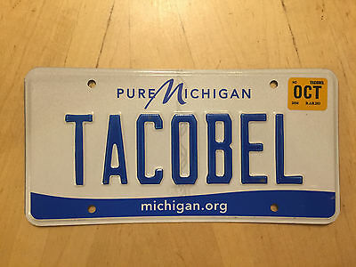 "Vanity License Plate "" Taco Bel "" Bell Mexico Mexican Food Burrito Salsa Chips"