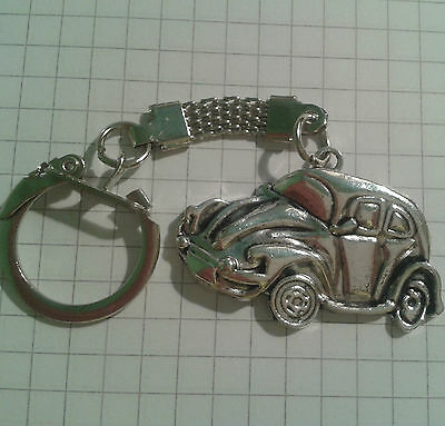 """Tibetan Silver Charm """"old Style Car""""  On Keyring For Hand Bags"""