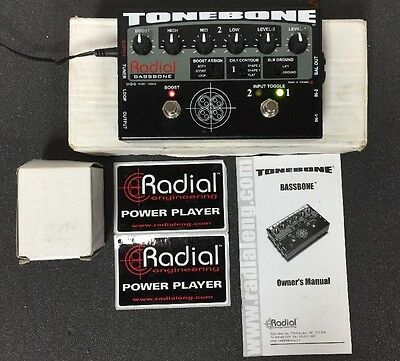Radial Engineering Tonebone Bassbone  Two-Channel EQ/DI Pedal for Bass Guitar